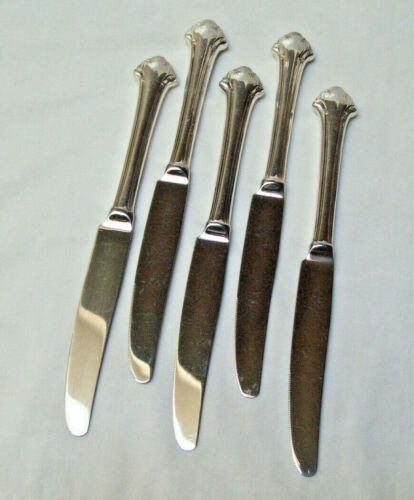 Towle Silver Silverplate 1987 BOSTON CHIPPENDALE Pattern Set Of 5 DINNER KNIVES