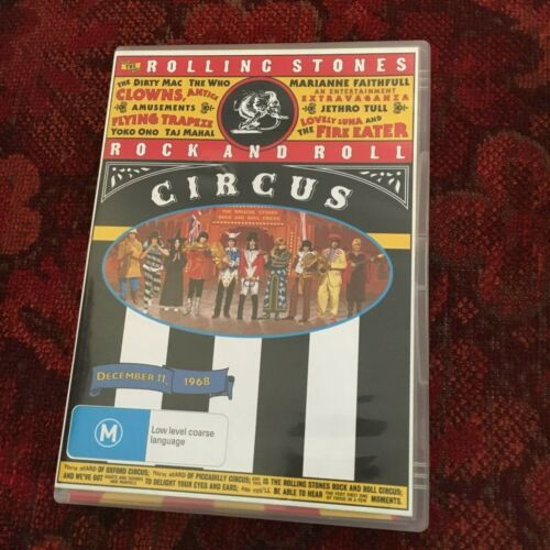 THE ROLLING STONES ROCK AND ROLL CIRCUS DVD WITH PROMO BROCHURE