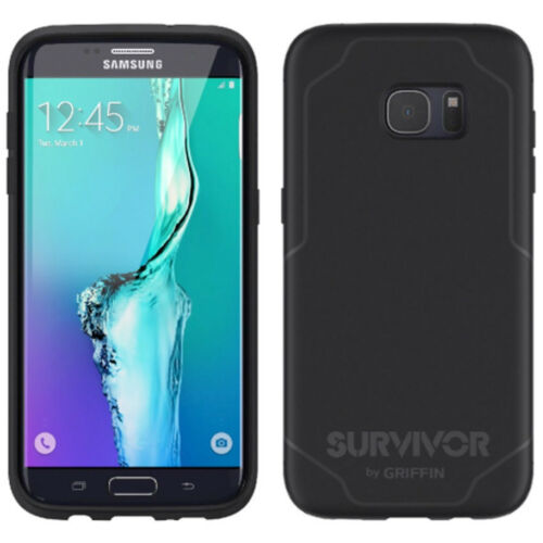 Griffin Samsung Galaxy S7 Edge Survivor Journey ShockProof Case Cover Black/Grey