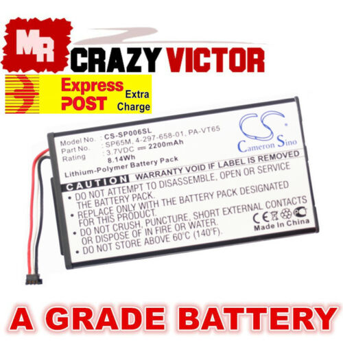 Battery For Sony Sony PS Vita PCH-1000 1001 1100 1101 4-297-658-01PA-VT65 SP65M