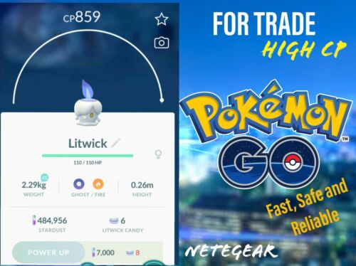 Pokemon Go HIGH CP Litwick For TRADE - RARE || Buy 2, Get 1 FREE || #1 Trader🔥