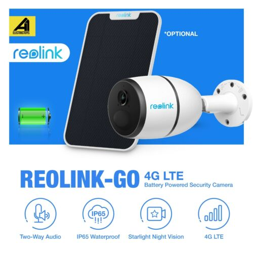 Reolink Go 4G LTE Network Security Camera 1080P Outdoor Wireless Solar Panel Syd