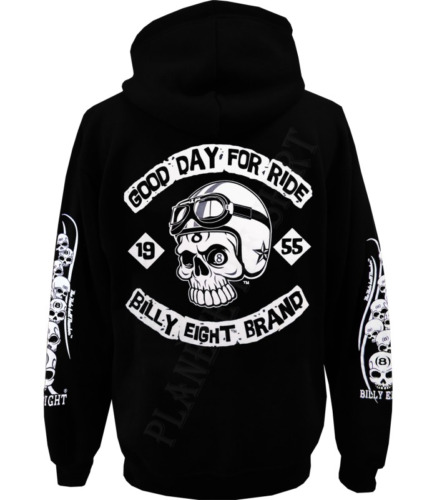Sweat capuche Billy Eight fermeture zip  -*- Good Day for Ride -*-