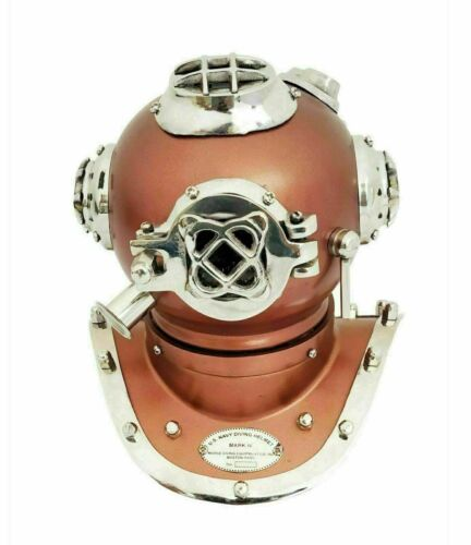 Collectible Deep Sea Brass Mini Diving Divers Helmet Model Home Table Decor Gift