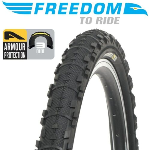 """Freedom Bicycle Wire Bead Bike Tyre Gravel Armour Protection - 26""""x1.95"""""""