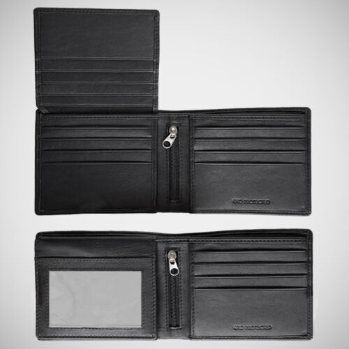 EGNT 12CC Trifold Wallet with Zips  RFID BLACK BIFOLD GENUINE LEATHER SLIM MENS  <br/> 850+ SOLD! UNFORTUNATELY PREVIOUS LISTING WAS LOST!