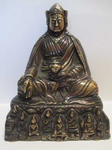UNIQUE VERY RARE ANTIQUE CHINESE/TIBETAN GILT BRONZE BUDDHA