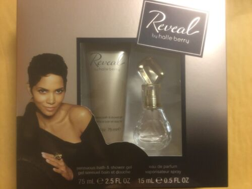 2 pc Set REVEAL by HALLE BERRY edp PERFUME Spray 0.5 oz / SHOWER GEL 2.5 oz NIB