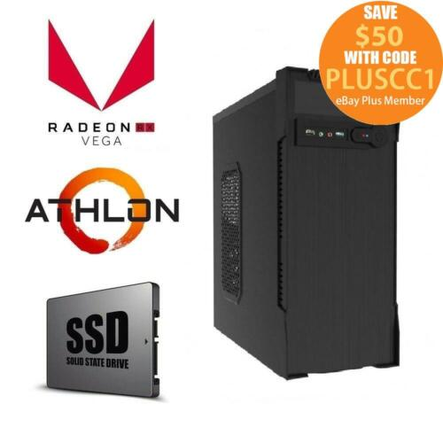 AMD 200GE Dual Core | 8GB | 240GB SSD | Gaming Computer System Office Desktop PC