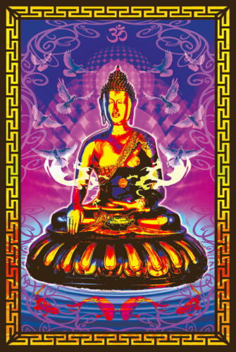 BUDDHA - TRANQUIL - BLACKLIGHT POSTER - 24X36 - PSYCHEDELIC 426