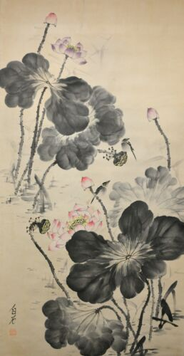Fine Chinese Hand Painted Watercolor Wall Hanging Scroll Painting - Qi Baishi