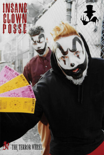 INSANE CLOWN POSSE - TERROR WHEEL POSTER - 24x36 - MUSIC 9265