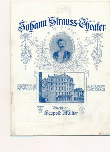 Wien Vienna Johann Strauss Theater Programm Heft Lessing Theater Berlin