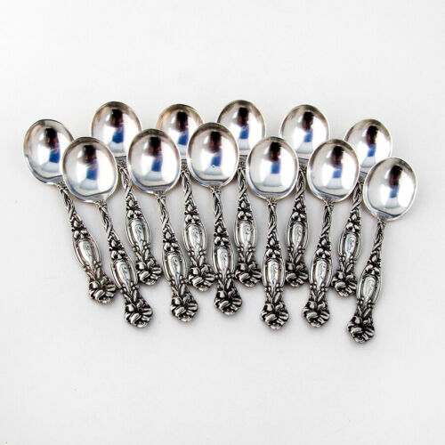 Frontenac 12 Small Chocolate Spoons Set International Sterling Silver Mono
