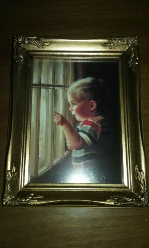 """"""" Daddy's Home"""" Framed Lithograph By Donald Zolan 1993 MIB COA"""