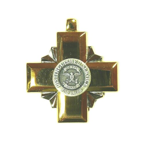 Austin Texas Police Distinguished Service Cross for Valor Medal, medallion only.Medals & Ribbons - 36069
