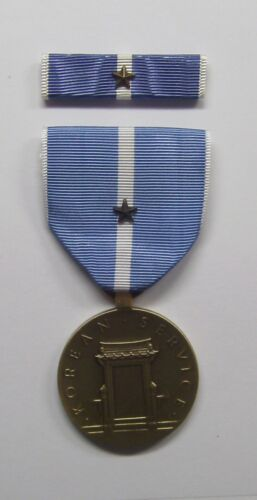 U.S. Korean Service Military Medal with RIBBON 1 Battle StarReproductions - 156441