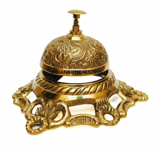 Brass Nautical Table Bell Hotel Decor/Office/Motel/Service Bell Working Item