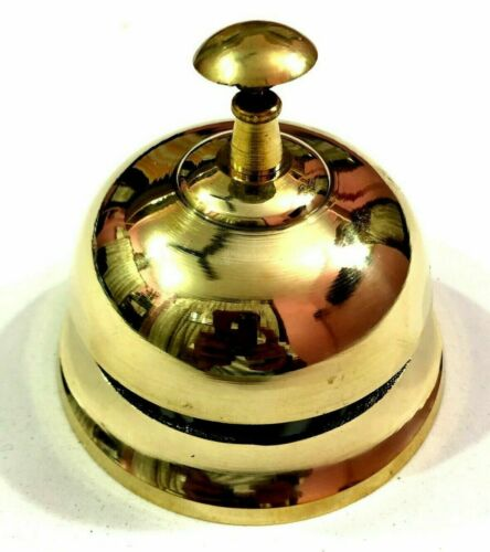 Nautical Brass Table Bell Hotel Counter Bell Office Calling Service Bell Decor
