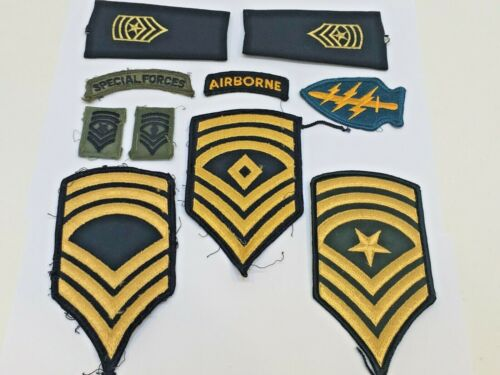 Us Military Patches With Rank Lot Of 10