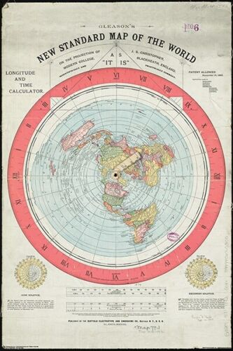 FLAT EARTH - MAP POSTER 24x36 - WORLD 11565