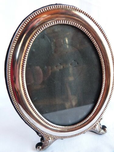 EUROPEAN SILVER ANTIQUE 336 H PICTURE FRAME FOOTED STAND stamped