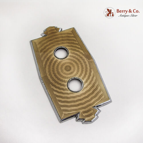 Push Button Switchplate Cover Yellow Enamel Nickel Plated Brass