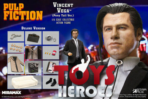 STAR ACE PULP FICTION VINCENT VEGA 2.O PONY TAIL DELUXE VERSION Coupon
