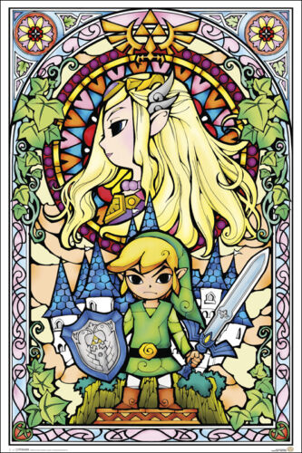 ZELDA - STAINED GLASS STYLE POSTER 24x36 - 51935