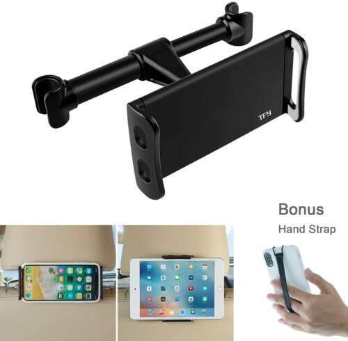 Car Headrest Mount, Tablet Headrest Holder Compatible iPhone Xs Max/XS / XR