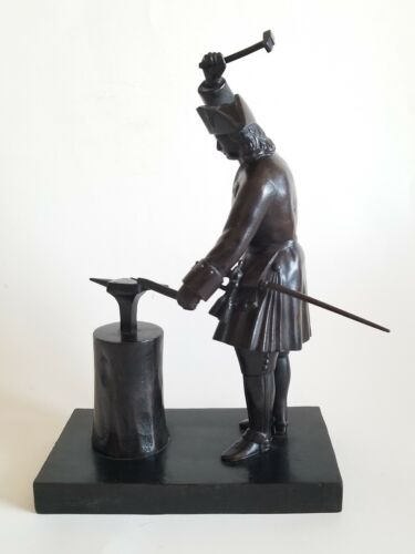 Rare Antique Russian Bronze Statue Of Peter The Great