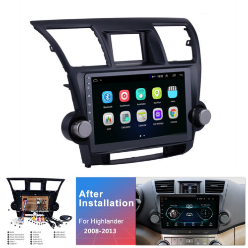 For Toyota Kluger 2008-13 10.1'' Android 9.1 2+32GB Car Stereo Radio GPS Navi