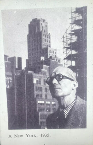 Le Corbusier In New York 1935.  French Architecture 35mm Art Slide