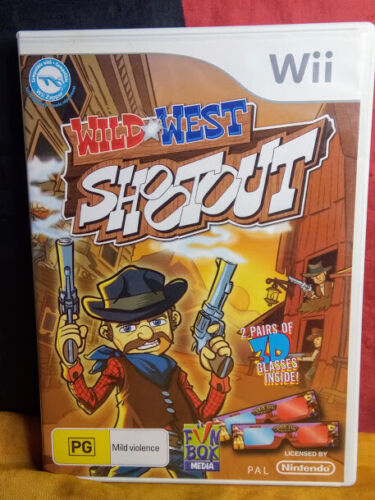 Wild West Shootout - (Nintendo Wii PAL, 2010) - Includes Manual & Glasses