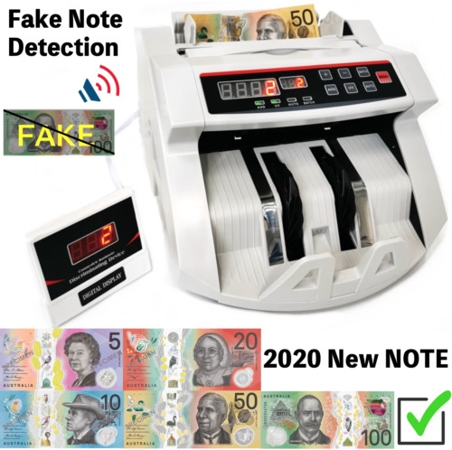 Automatic Money Counter Machine Bill Banknote Counter + Extra Digital Display