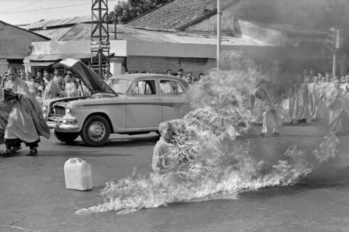 Saigon Vietnam-Buddhist Monk Burns Self to Death in Protest-1963 PhotoReproductions - 156441