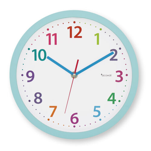 "Decowall DSHC-P25BL 9.8"" Silent Non-ticking Modern Pastel Wall Clock Home&Office"