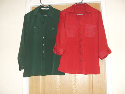 2 BLOUSES tops CLASSIC DAY WEAR SZ 12 SMART ENOUGH FOR WORK  clean