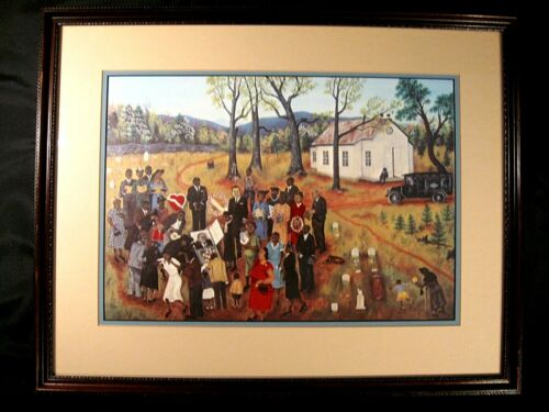 """Queena Stovall Print Double Matted Signed 21 3/4"""" by 17 1/4"""""""