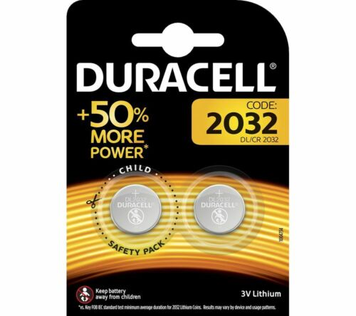2x Duracell CR2032 3V Lithium Coin Cell Battery 2032 button DL2032. 0100