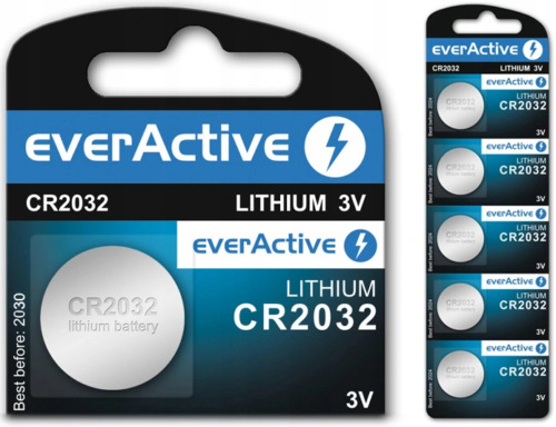 5x everActive CR2032 3V Lithium Coin Cell Batteries 2032 button DL2032. 019