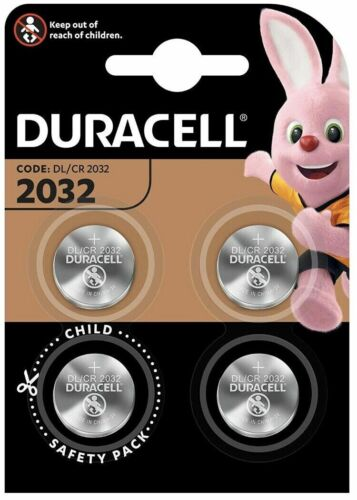 4x Duracell CR2032 3V Lithium Coin Cell Battery 2032 button DL2032. 066