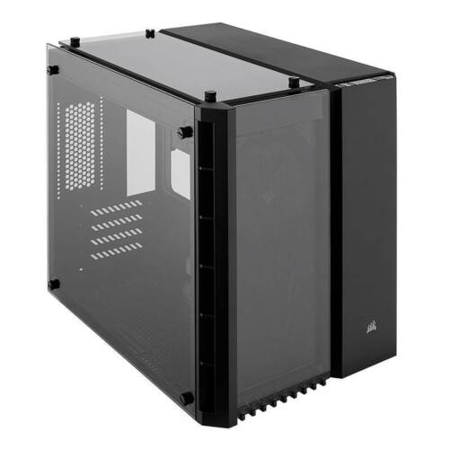 Corsair Crystal 280X Tempered Glass Micro-ATX Case - Black