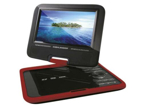 """9"""" Portable DVD Player USB/SD Card Slot Remote Control Swivel Screen Car Charger"""