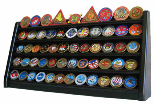 5 Row Display Stand for Challenge Coins, Masonic Coins, an Medals COIN5-BLOther Militaria - 135