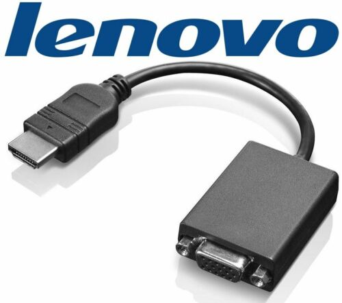 GENUINE Lenovo HDMI to VGA Display Adapter Converter Cable for PC to LCD Monitor