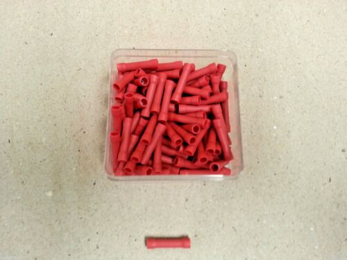100 Pc Electrical Insulated Crimp Terminals Cable Joiner Connector Red 12 Volt