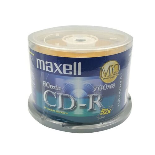 50 x CD-R Blank CD R 700MB 52X Blank CDs Full CDR. No error when buring. Long st