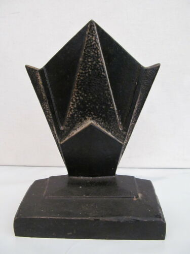 Hubley cast iron Geometric  Art deco bookend  Unmarked