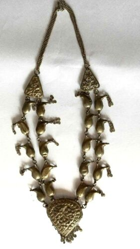 INDIA ANTIQUE ETHNIC TRIBAL RAJASTHANI, OLD SILVER  NECKLACE JEWELLERY